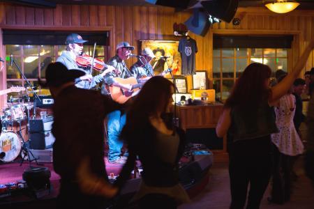 Band at Silver Dollar Bar in Jackson Hole