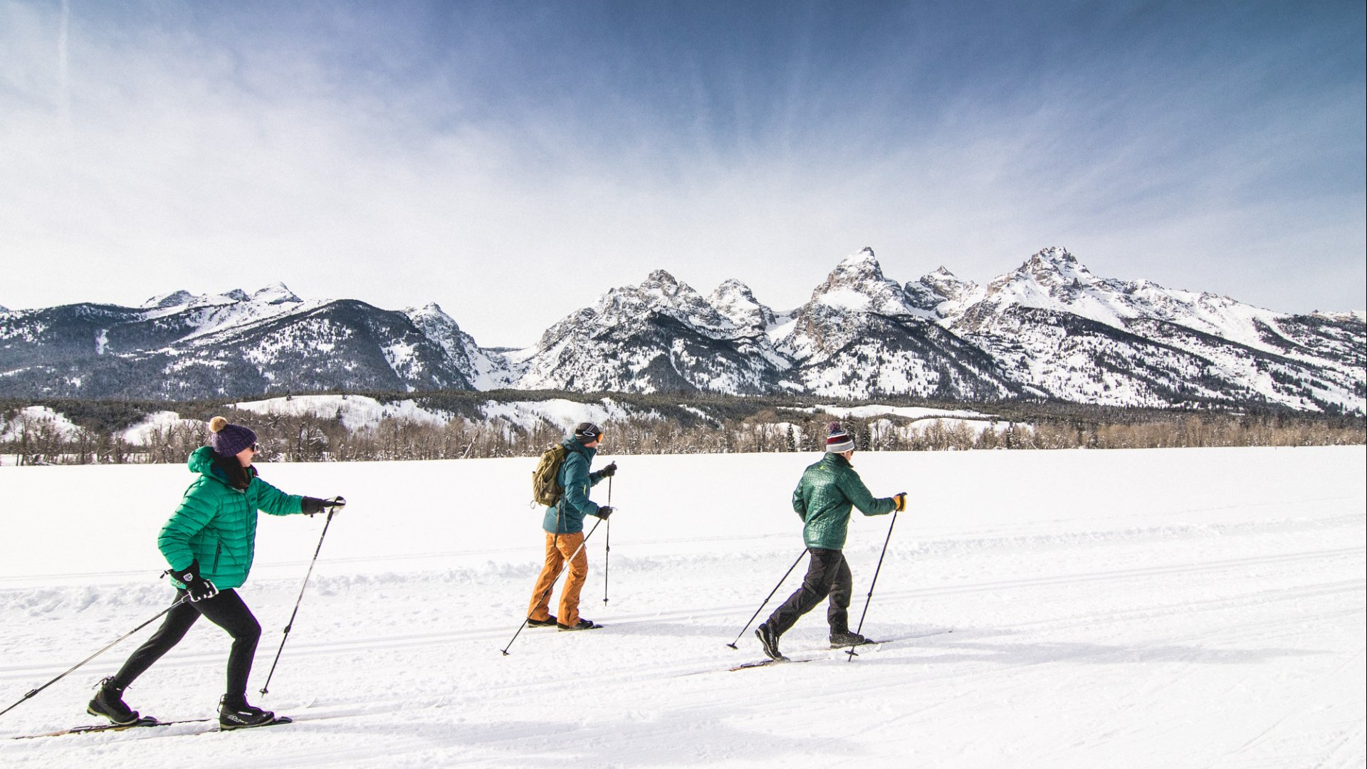 Cross-country skiing in Jackson Hole